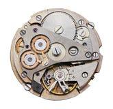Meccanismo dell'orologio con gli ingranaggi Fotografia Stock