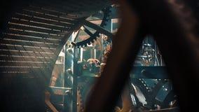 Meccanismo dell'orologio della torre stock footage