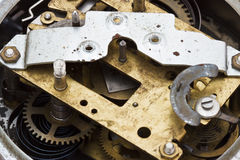 Meccanismo dell'orologio fatto nella tecnica Fotografia Stock