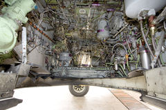 Meccanismo della rotella dei velivoli fotografia stock libera da diritti