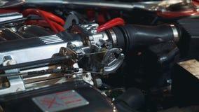 Meccanismo di controllo di velocità del motore a combustione interna video d archivio