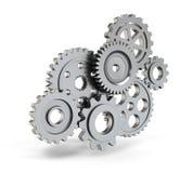 Meccanismo di ingranaggio d'acciaio Immagini Stock Libere da Diritti