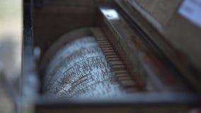 Meccanismo di Music Box stock footage