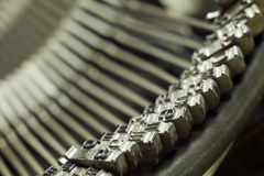 Meccanismo di tipo macchina di scrittura Fotografie Stock Libere da Diritti