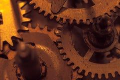 Meccanismo e dettagli di vecchio retro primo piano dell'orologio Fotografia Stock