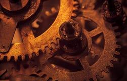 Meccanismo e dettagli di vecchio retro primo piano dell'orologio Fotografia Stock Libera da Diritti