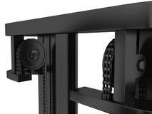 Meccanismo superiore del caricatore del carrello elevatore e del comando a catena rappresentazione 3d Fotografia Stock
