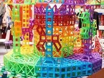 meccano des enfants 3d des pièces en plastique Photographie stock