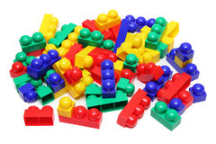 Meccano toy blocks Stock Photo