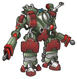 Mech-warrior. Robot, vector illustration Royalty Free Stock Photography