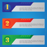 Mecha Banner Inforgraphic Stock Image