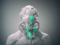 Mecha bust. 3d robot android futuristic mecha bust Royalty Free Stock Photography