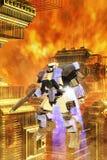 Mecha géant de robot de bataille illustration stock