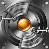 Mecha Optic Device. Digital element prop with cybernetic flavor Royalty Free Stock Image