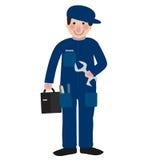 Mechanic. Illustration of mechanic service man isolated over white background Stock Photography