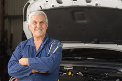Mechanic in an automotive workshop Stock Photography