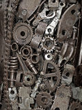 Mechanic background. Mechanic scrap welded together as one object Stock Images