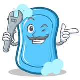 Mechanic blue soap character cartoon Royalty Free Stock Images