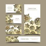 Mechanic business cards set Royalty Free Stock Photos