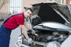 Mechanic car breakdown Stock Photos