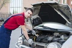 Mechanic car breakdown stock photos