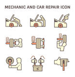 Mechanic car icon Stock Photo