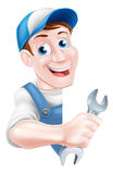 Mechanic Cartoon Man Plumber Stock Photography