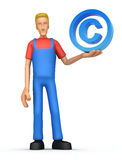 Mechanic with copyright Royalty Free Stock Images