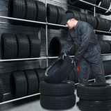 Mechanic on duty Stock Photo