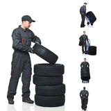Mechanic on duty collection Stock Photo