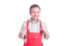 Mechanic, electrician or plumber acting proud and confident Stock Image