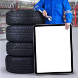 Mechanic with empty copyspace Royalty Free Stock Photography