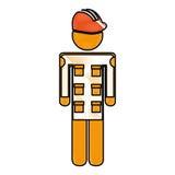 Mechanic engineer avatar silhouette. Vector illustration design Royalty Free Stock Image