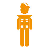 Mechanic engineer avatar silhouette. Vector illustration design Stock Image