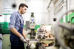 Mechanic engineer at work royalty free stock photography