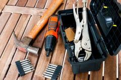 Mechanic equipment Royalty Free Stock Images