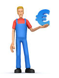 Mechanic with euro Stock Images