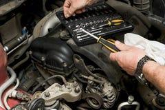 The mechanic fixes Stock Image
