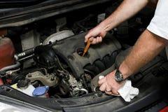 The mechanic fixes Stock Photo