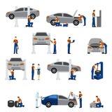 Mechanic Flat Icons Royalty Free Stock Photos