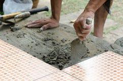Mechanic Floor tiles Stock Photography