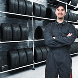 Mechanic and garage background Royalty Free Stock Photography