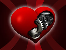Mechanic heart. Illustration of Mechanics heart. symbol of love and indifference in one time Royalty Free Stock Image