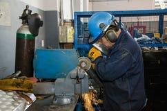 Heavy machinery mechanic Stock Photo