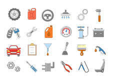 Mechanic  icons set. Set of 24 Mechanic  icons Royalty Free Stock Photography