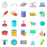 Mechanic icons set, cartoon style Stock Photos