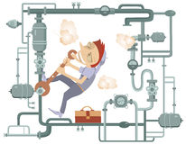 Mechanic Illustration Royalty Free Stock Images