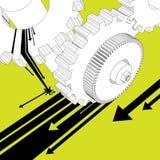 Mechanic illustration vector stock illustration