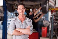 Mechanic Man Portrait Royalty Free Stock Photography