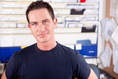 Mechanic in Office Royalty Free Stock Photos